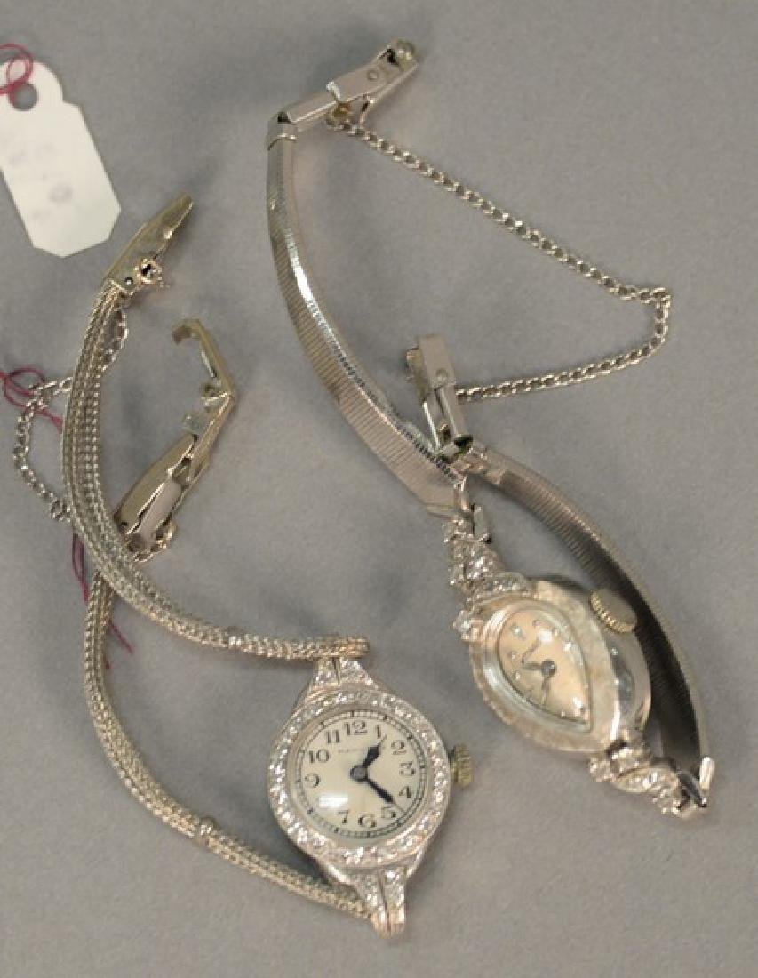 Two piece lot with Wittnauer 14K and diamond ladies