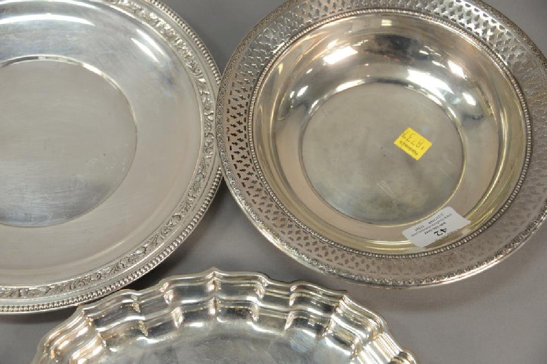 Three sterling silver pieces including oval tray, bowl, - 2