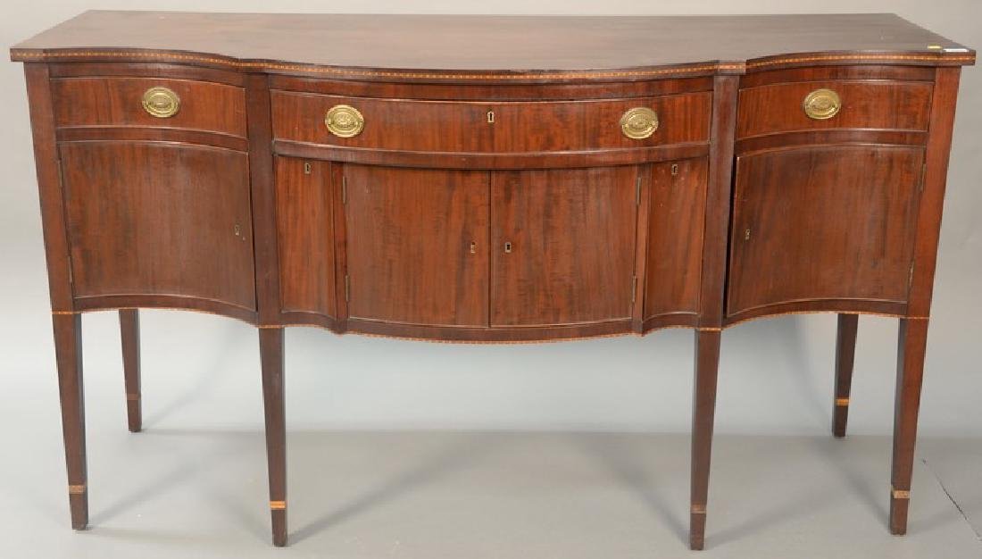 Margolis mahogany Federal style sideboard marked with