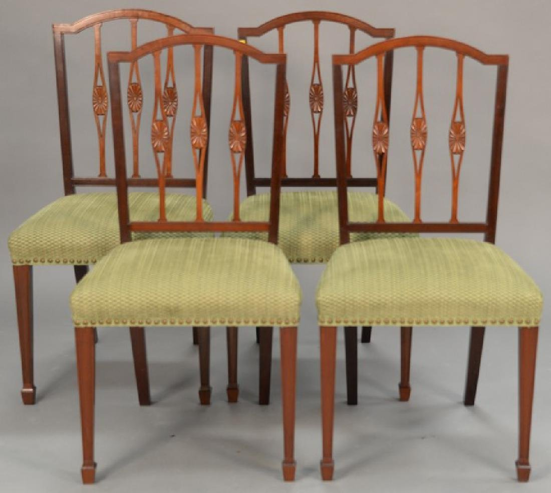 Set of four Margolis mahogany Federal style side chairs