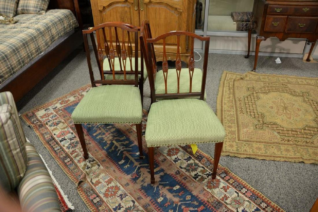 Set of four Margolis mahogany Federal style side chairs - 2
