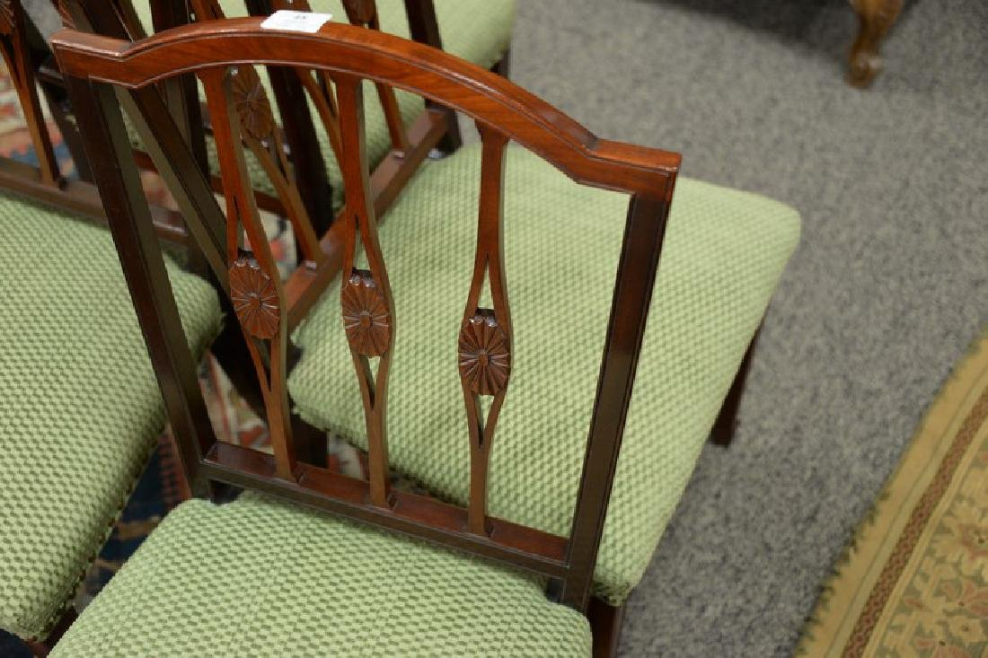 Set of four Margolis mahogany Federal style side chairs - 3