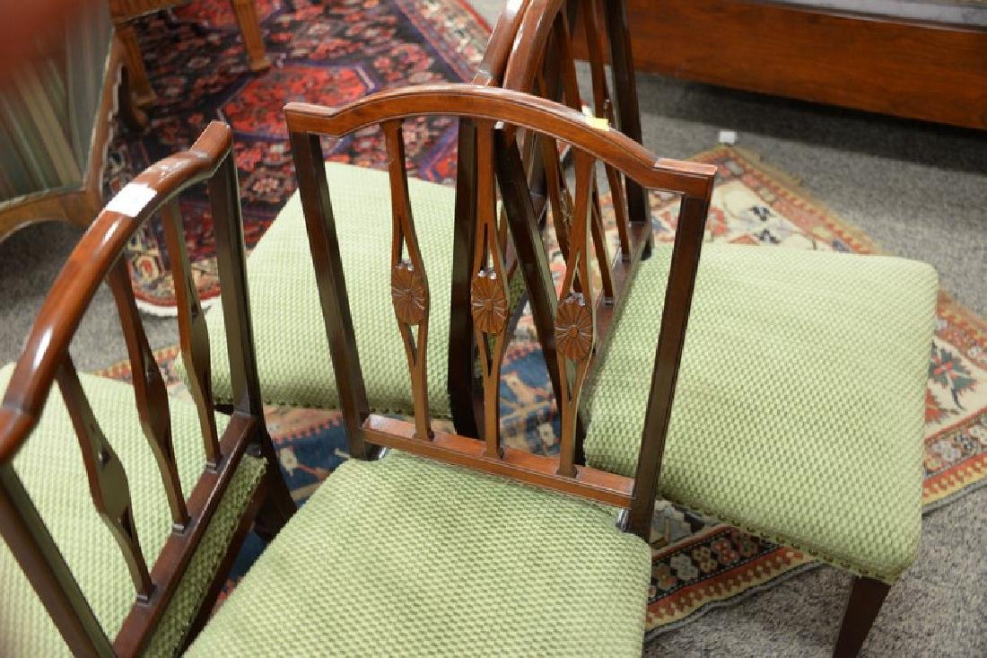 Set of four Margolis mahogany Federal style side chairs - 4