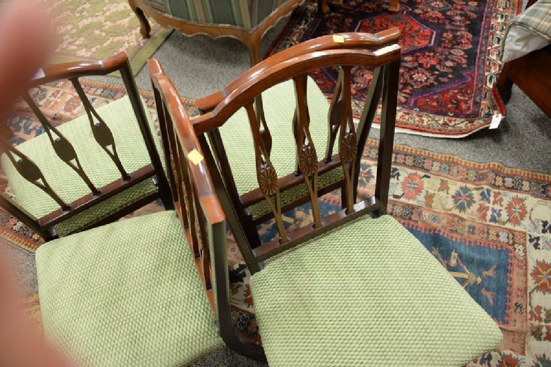 Set of four Margolis mahogany Federal style side chairs - 5