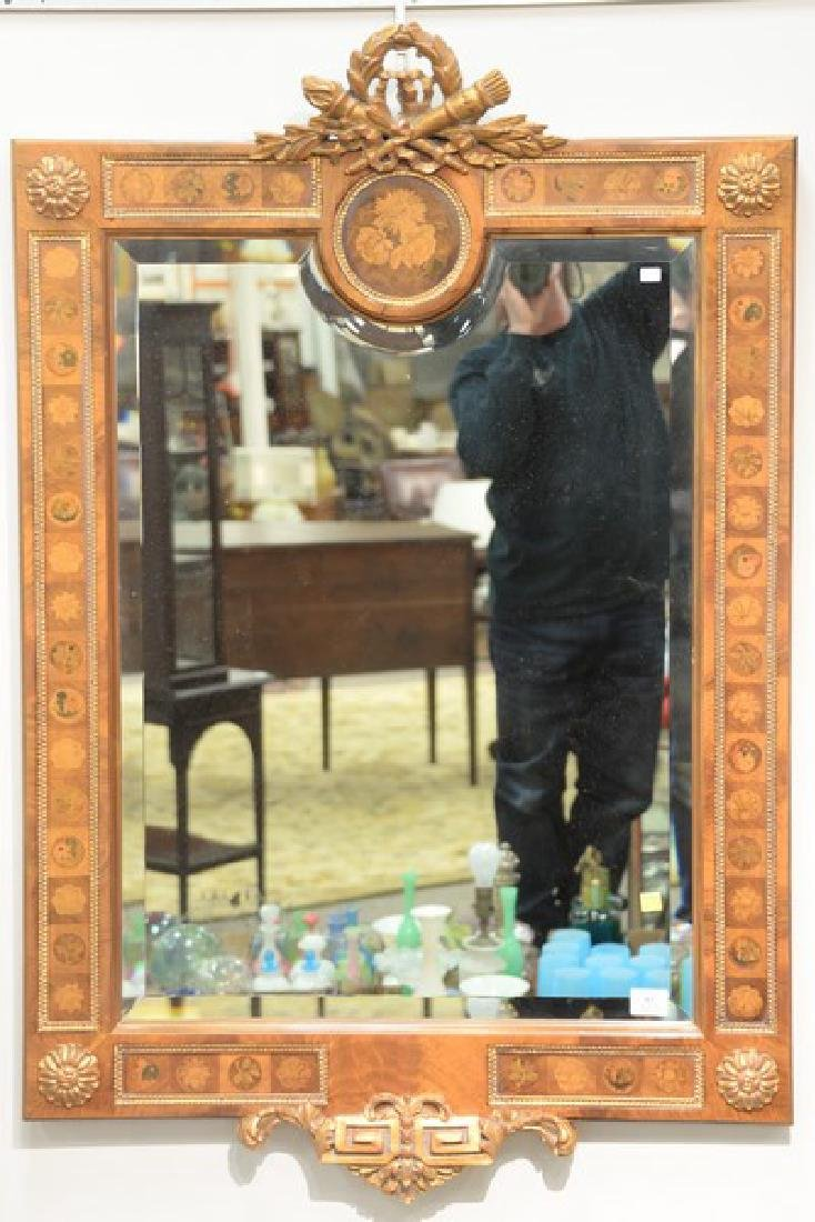 Contemporary inlaid mirror. ht. 47in., wd. 31in.