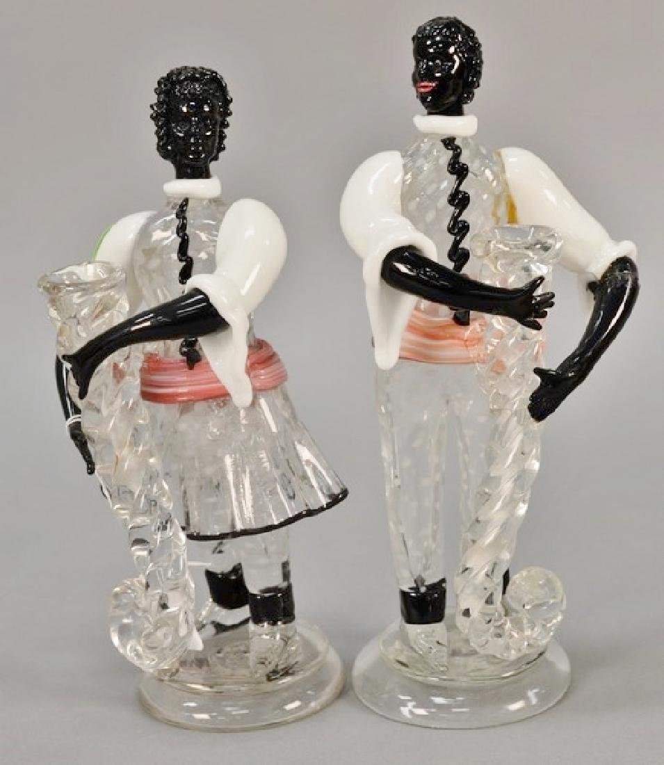 Pair of Murano glass figures (one with repairs to one
