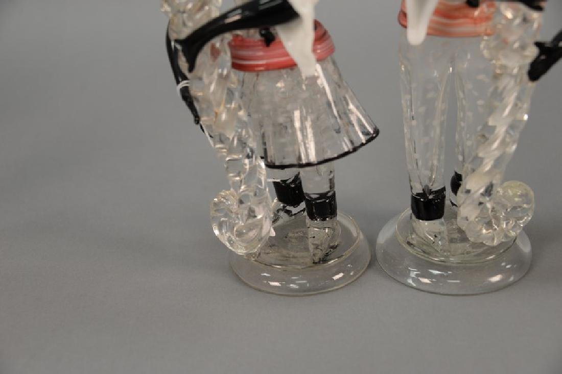 Pair of Murano glass figures (one with repairs to one - 3