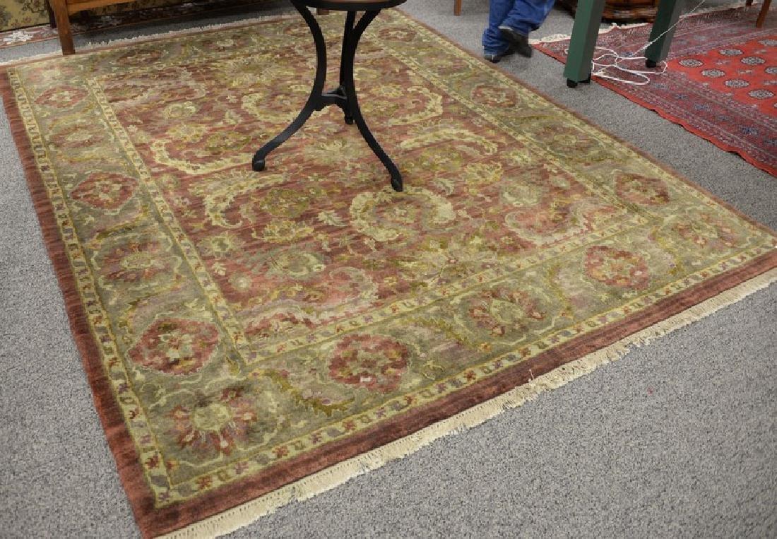 "Oriental carpet, 7'8"" x 9'7""."