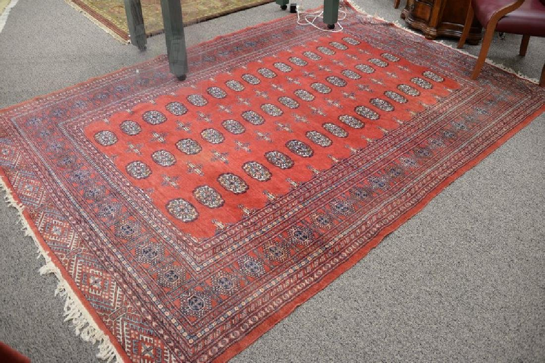 "Bokhara Oriental area rug. 7' x 10'7""."