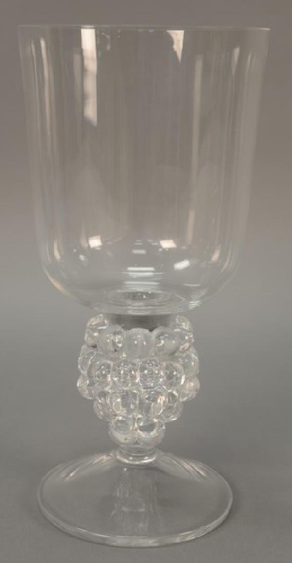Lalique Clos Vougeot candle holder, grapevine form with