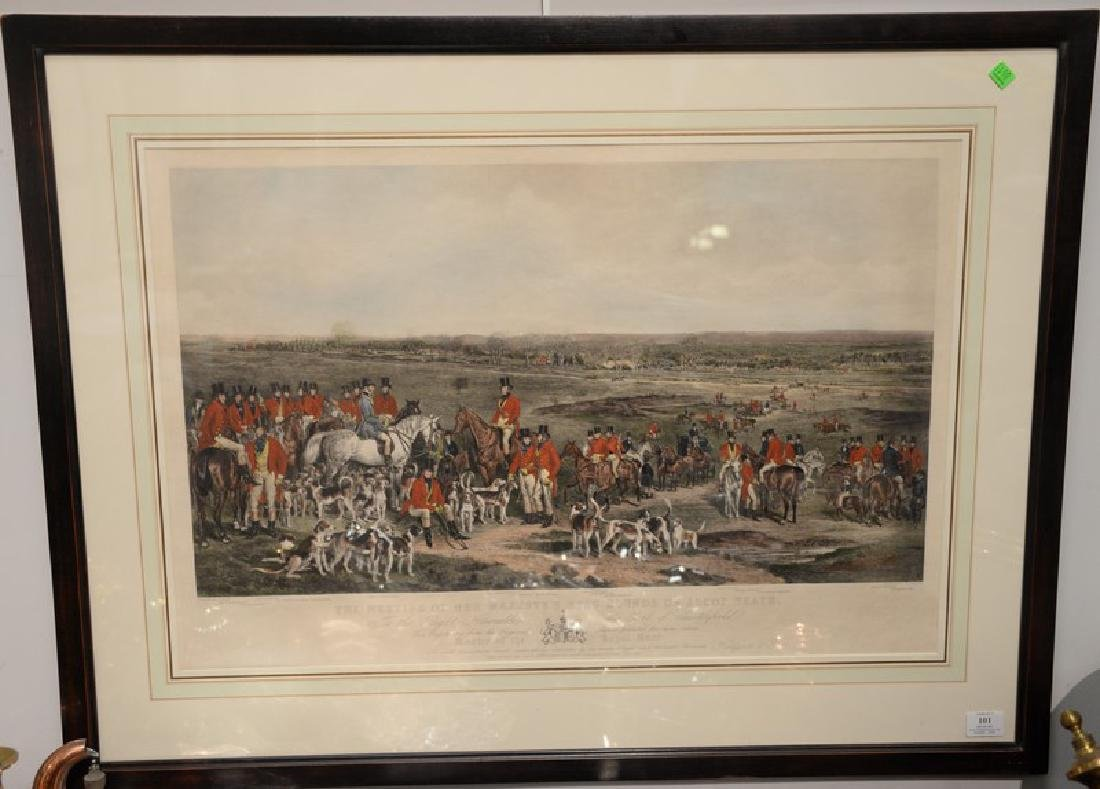 "After F. Grant, colored lithograph, ""The Meeting of Her"