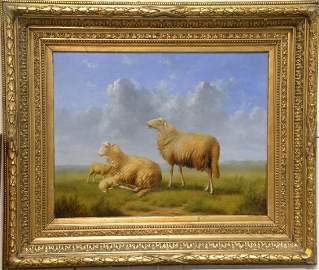 Arthur de Waerhert (1881-1944) oil on board, Sheep in