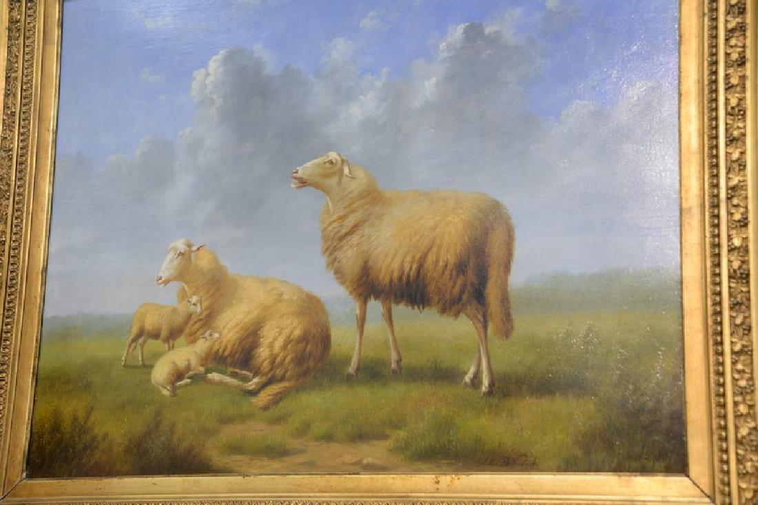 Arthur de Waerhert (1881-1944) oil on board, Sheep in - 3