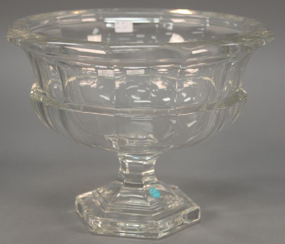 New in box Tiffany & Co. crystal footed compote, still