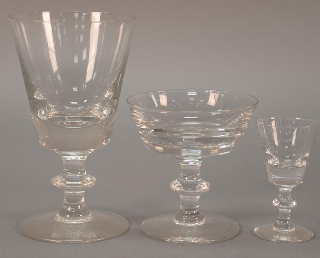 Val St. Lambert twenty-seven piece crystal stemware,