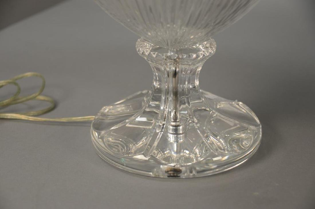 Pair of large crystal table lamps, watermark of a sail - 4