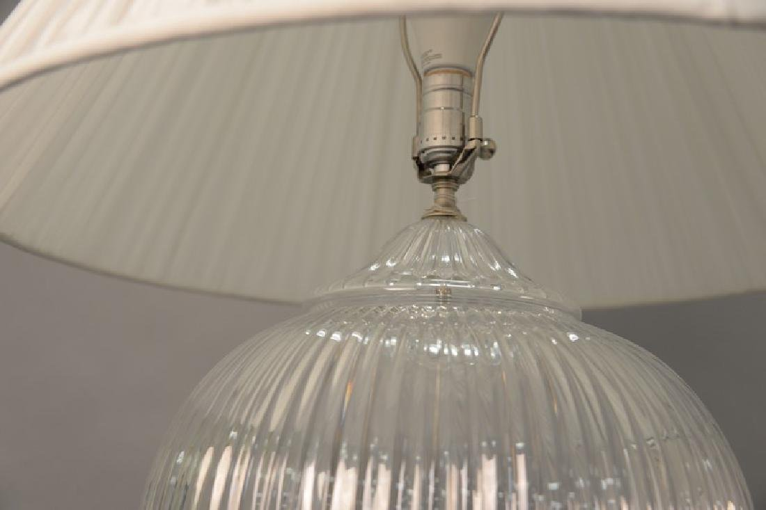 Pair of large crystal table lamps, watermark of a sail - 6