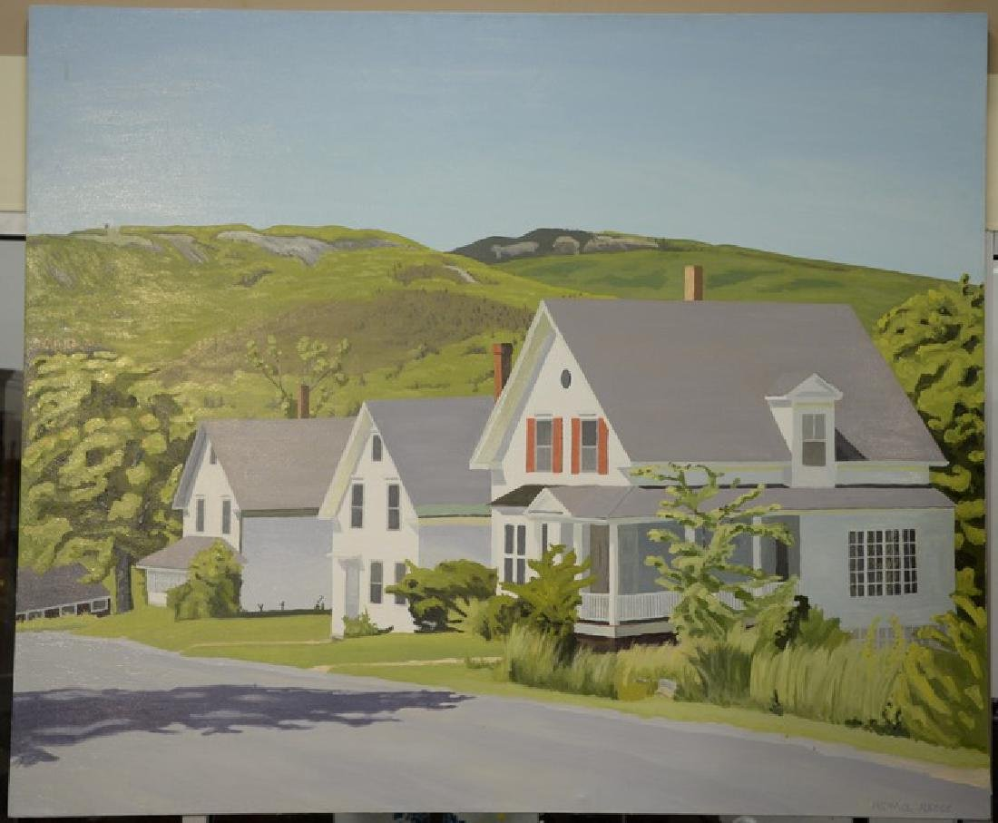 Michael Reece, oil on canvas, Country Houses along the