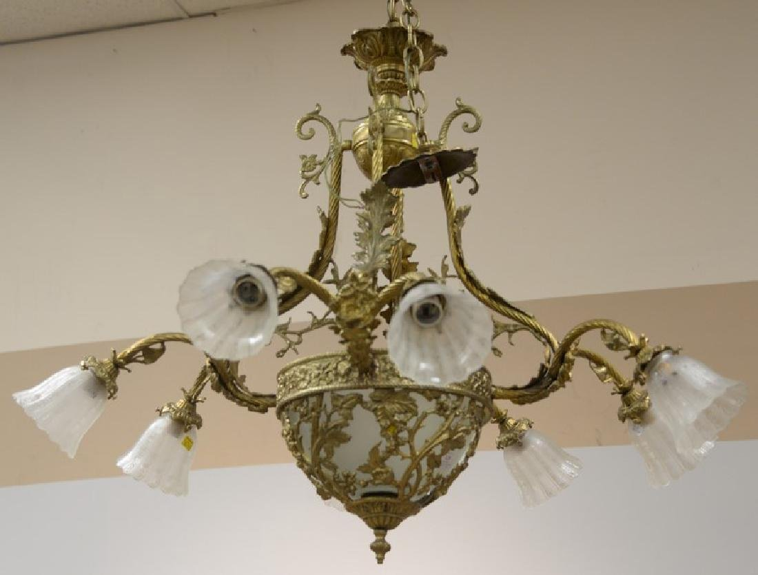 Chandelier with eight arms. approximate measurement: