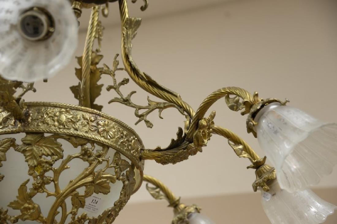 Chandelier with eight arms. approximate measurement: - 3