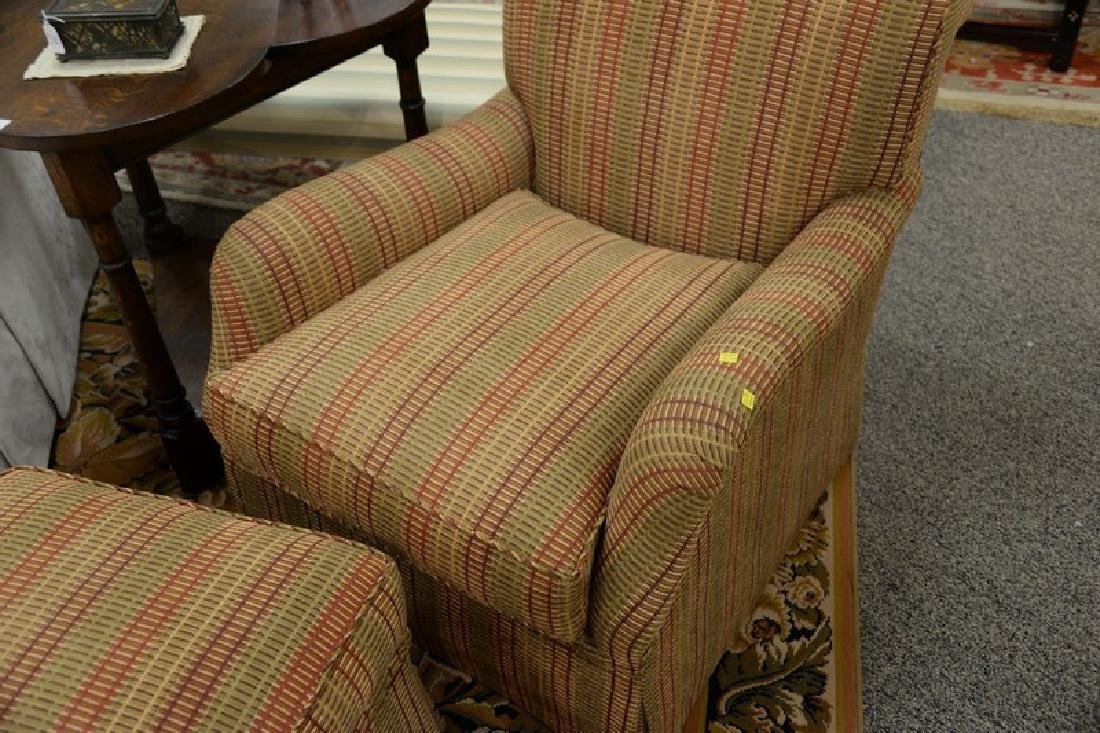 Custom upholstered easy chair and ottoman attributed to - 3