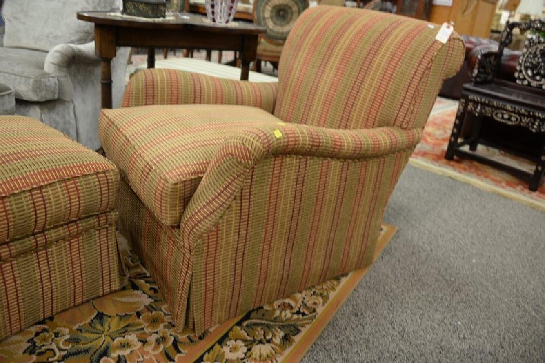 Custom upholstered easy chair and ottoman attributed to - 4