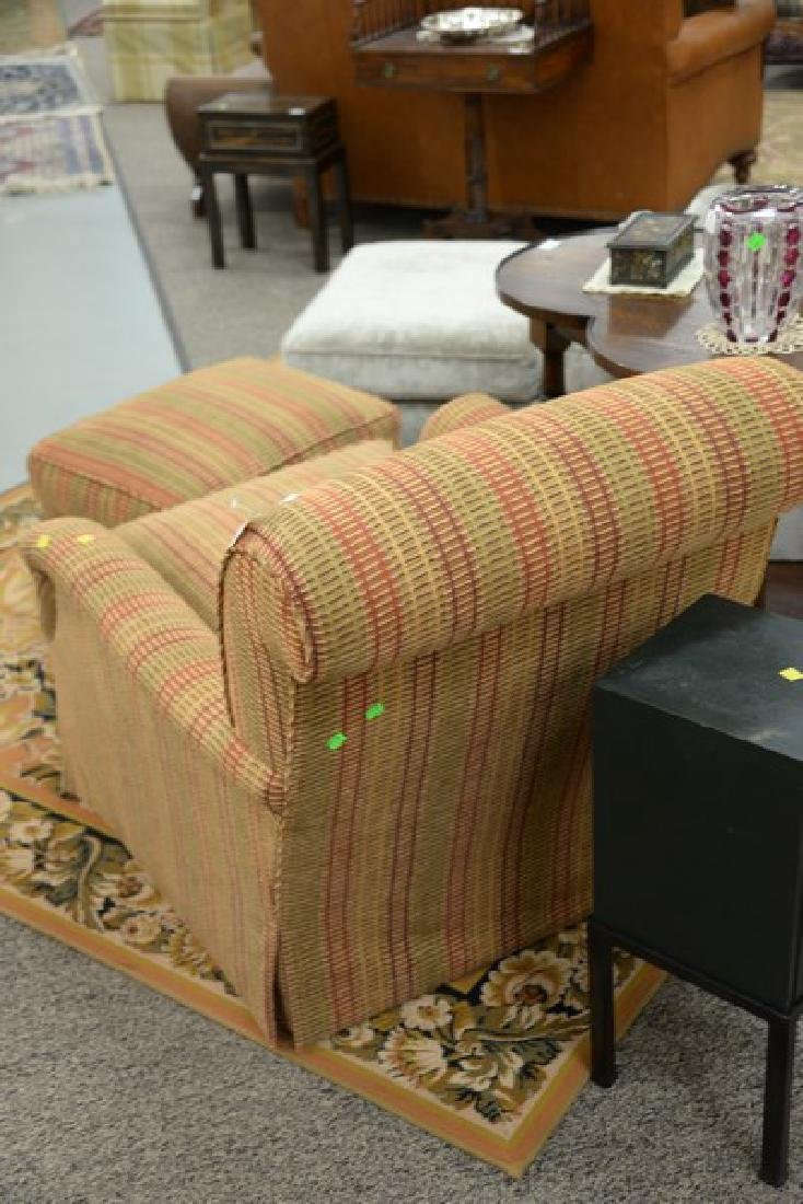 Custom upholstered easy chair and ottoman attributed to - 5