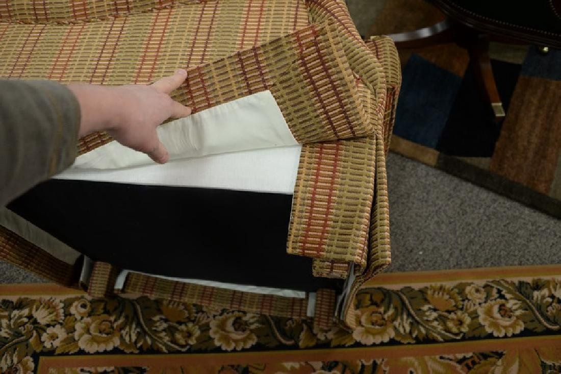 Custom upholstered easy chair and ottoman attributed to - 6
