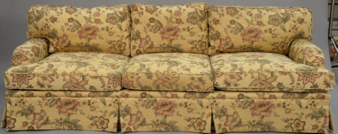Two piece lot to include custom sofa and loveseat