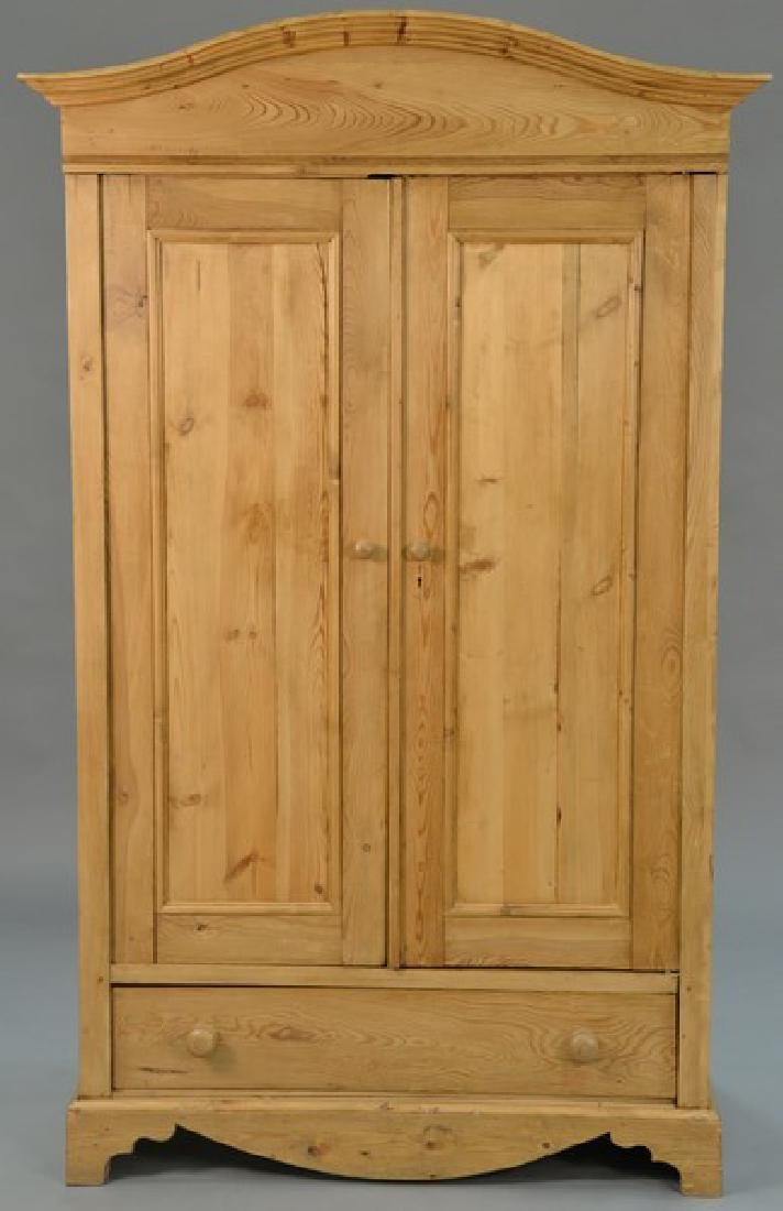 Pine armoire now fitted with drawer and shelf. ht.