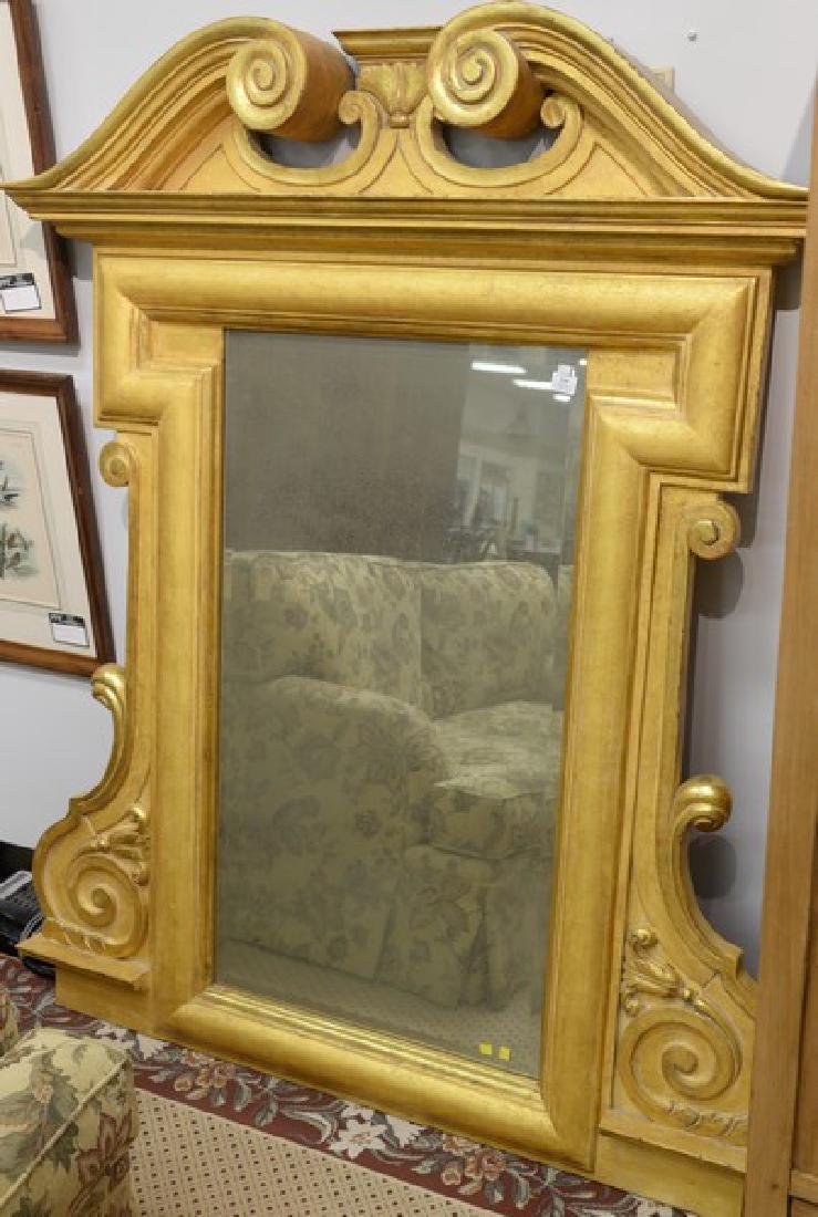 Large gilt framed mirror. ht. 68in., wd. 55 1/2in.
