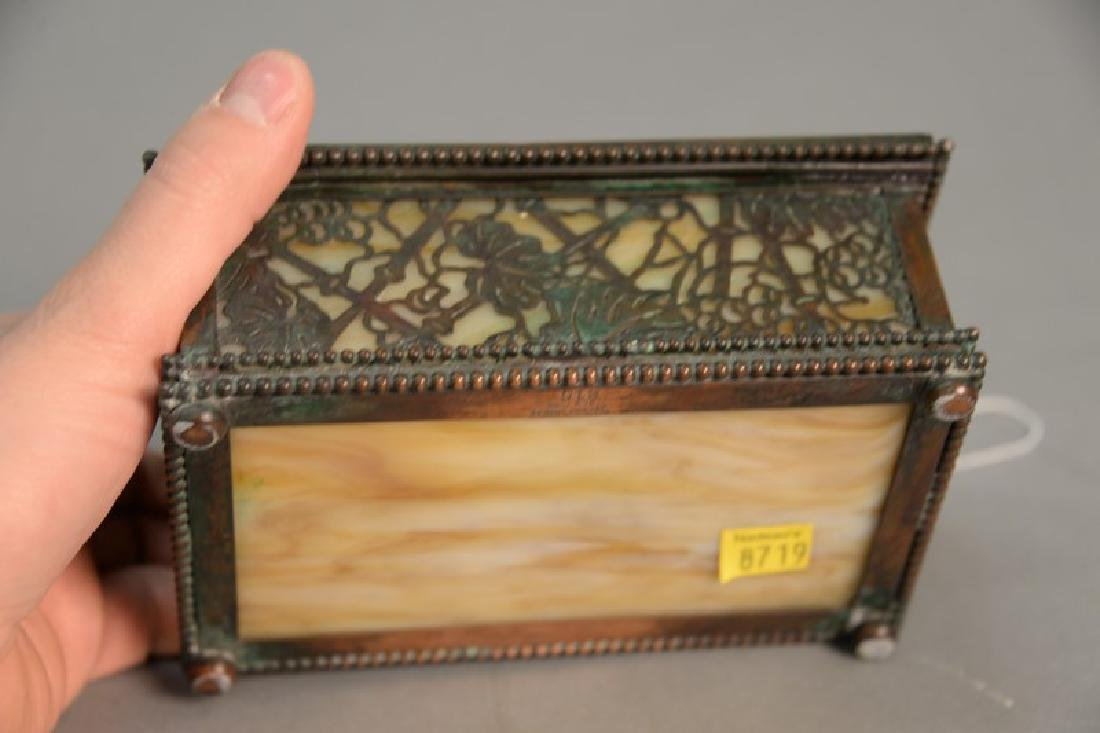 Tiffany Studios desk box, grape vine pattern with - 4