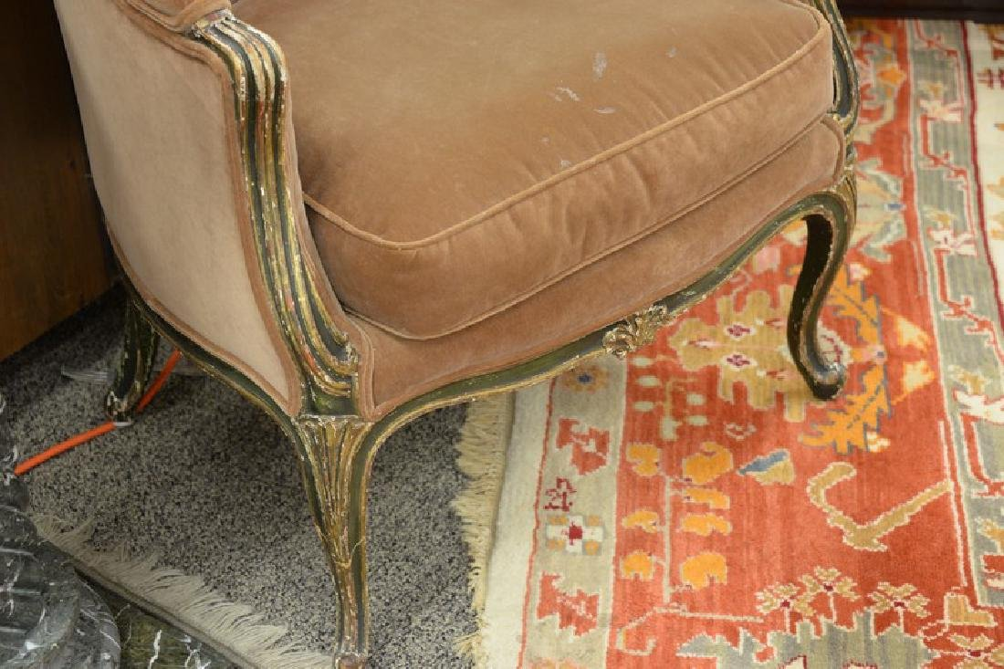 Louis XV style bergere in old finish. - 4