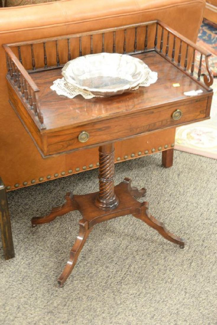 Rosewood regency style stand with gallery. ht. 33in., - 2