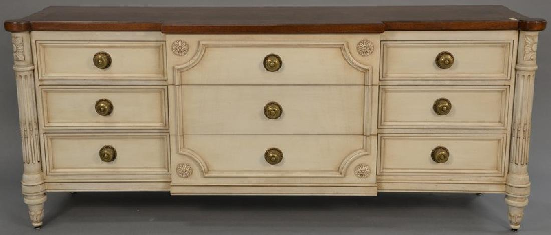 Karges Continental style triple chest, ht. 34in., top: