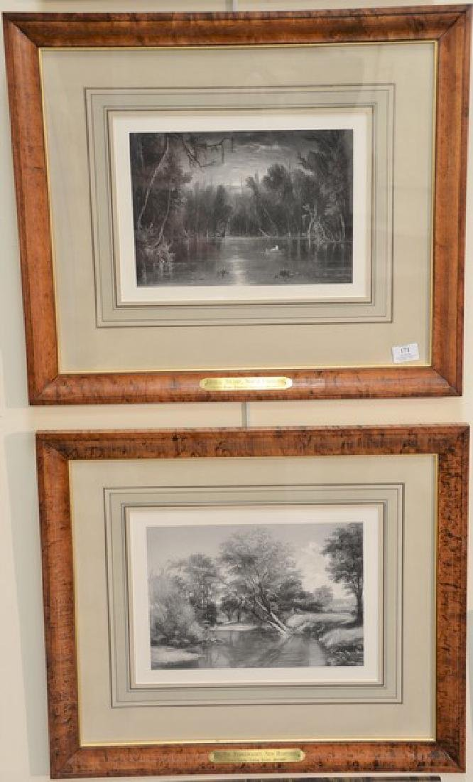 Set of four etchings to include Yosemite Valley,