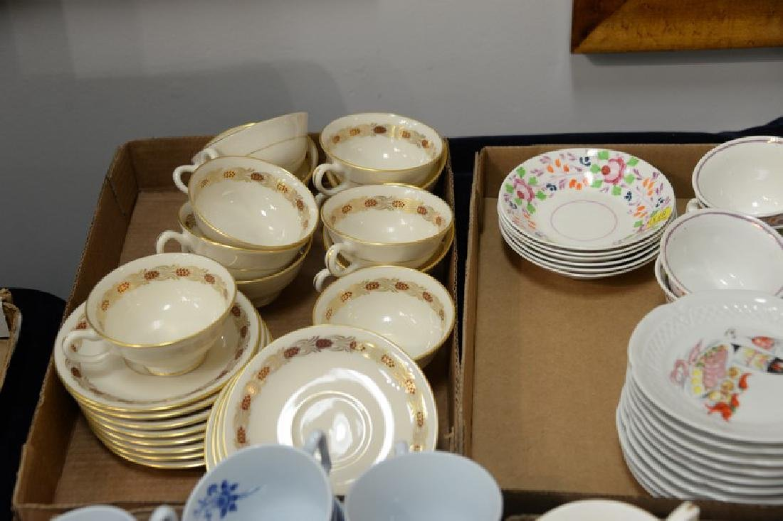 Four box lots of cups and saucers including porcelain - 2