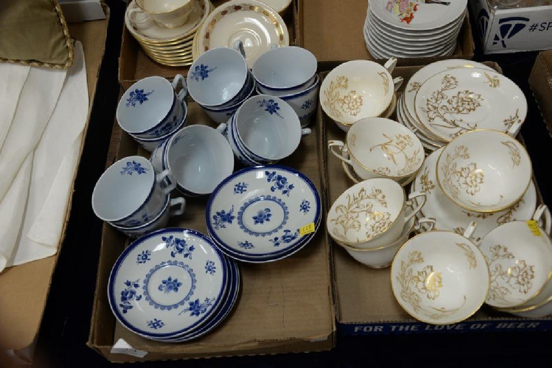 Four box lots of cups and saucers including porcelain - 3