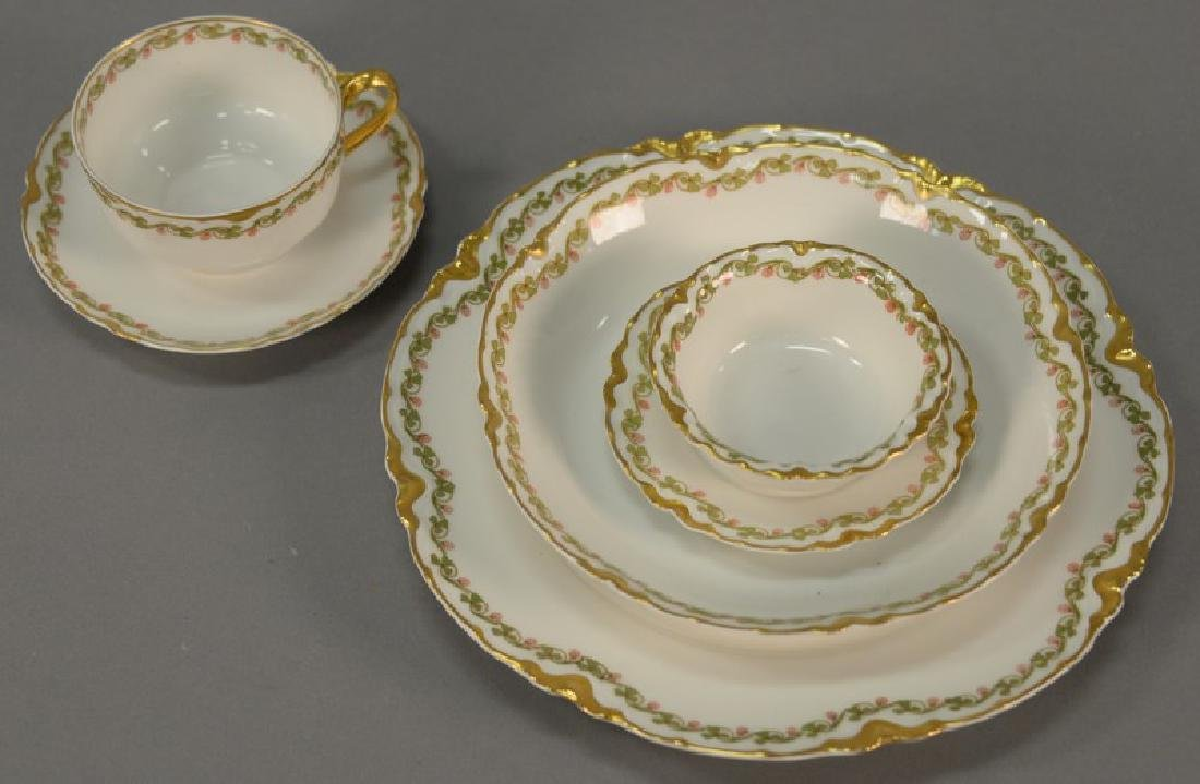 Haviland Limoges set of dinnerware, service for four to