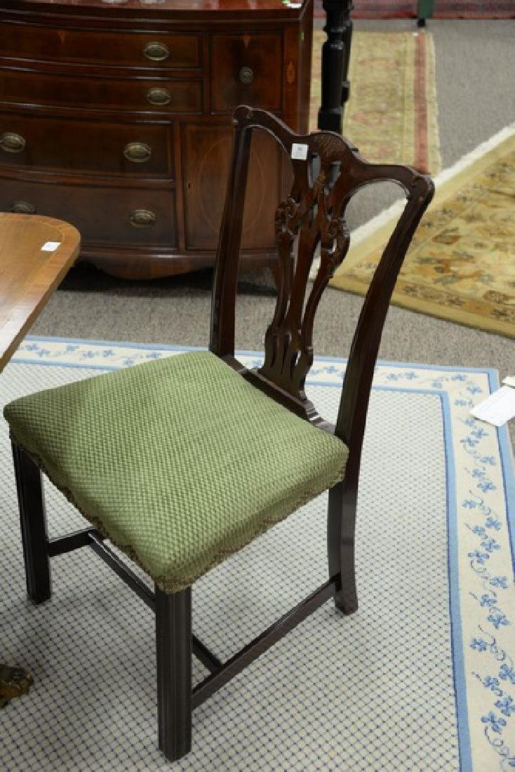 Set of six mahogany Chippendale style dining chairs. - 2