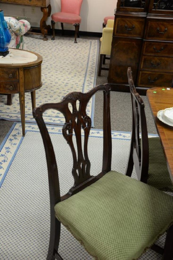 Set of six mahogany Chippendale style dining chairs. - 4