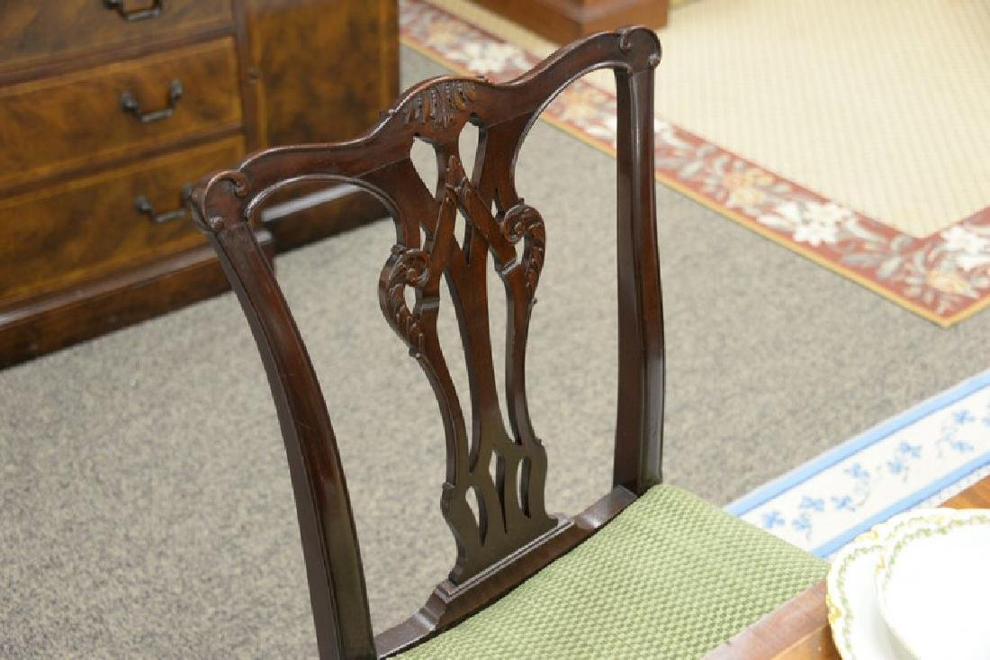 Set of six mahogany Chippendale style dining chairs. - 5