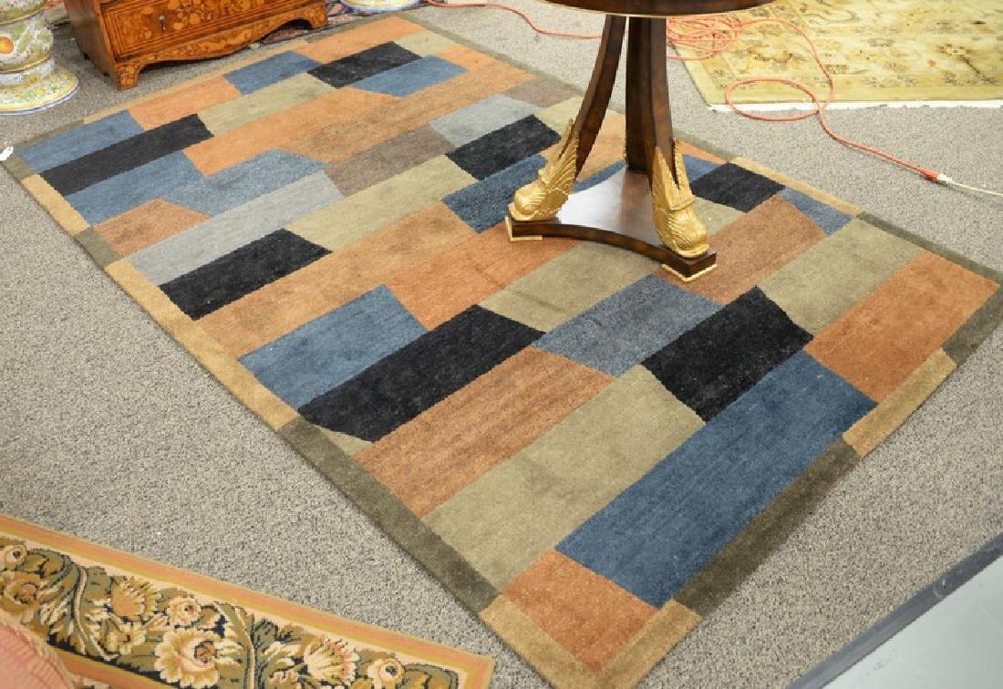 """Contemporary handmade rug. 5'6"""" x 8'7"""""""