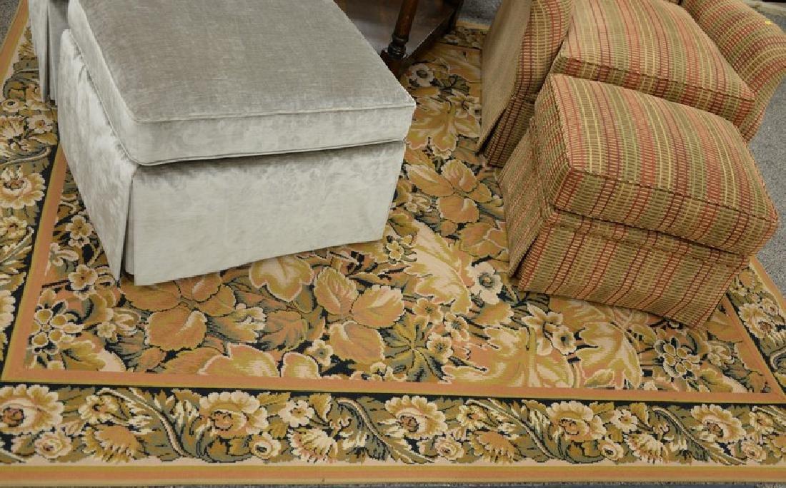 Two piece lot including Contemporary custom carpet