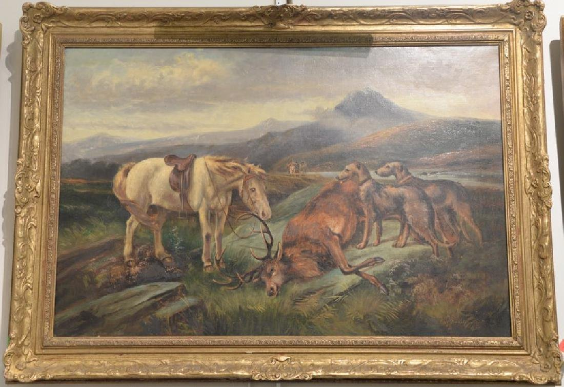 Charles Dudley (19th/20th century), oil on canvas, Elk