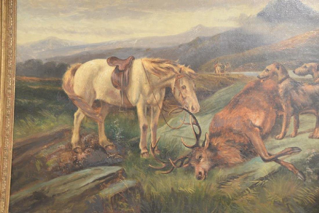 Charles Dudley (19th/20th century), oil on canvas, Elk - 2