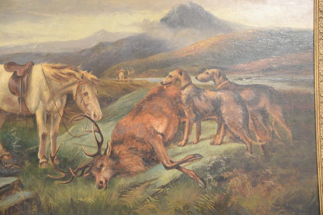 Charles Dudley (19th/20th century), oil on canvas, Elk - 3