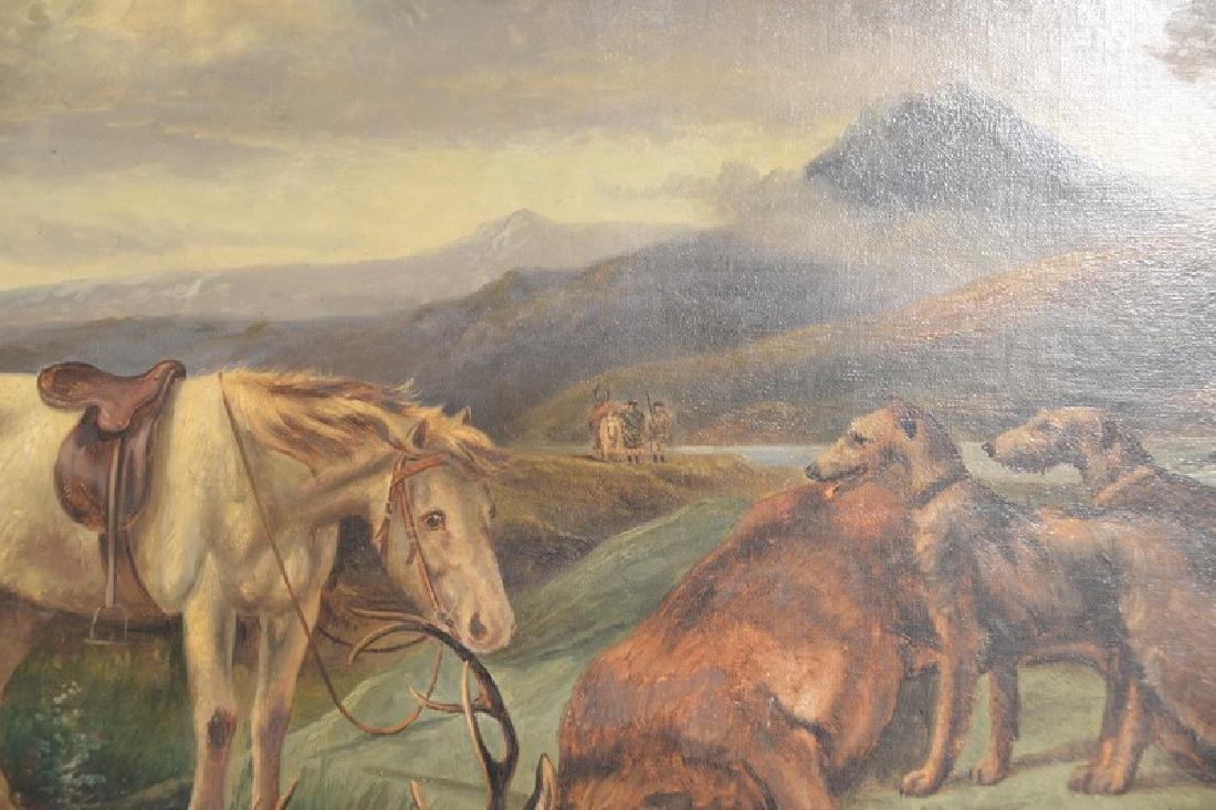 Charles Dudley (19th/20th century), oil on canvas, Elk - 4