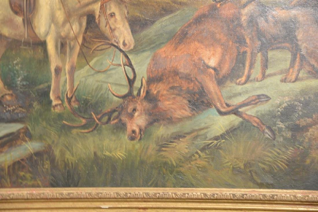 Charles Dudley (19th/20th century), oil on canvas, Elk - 5