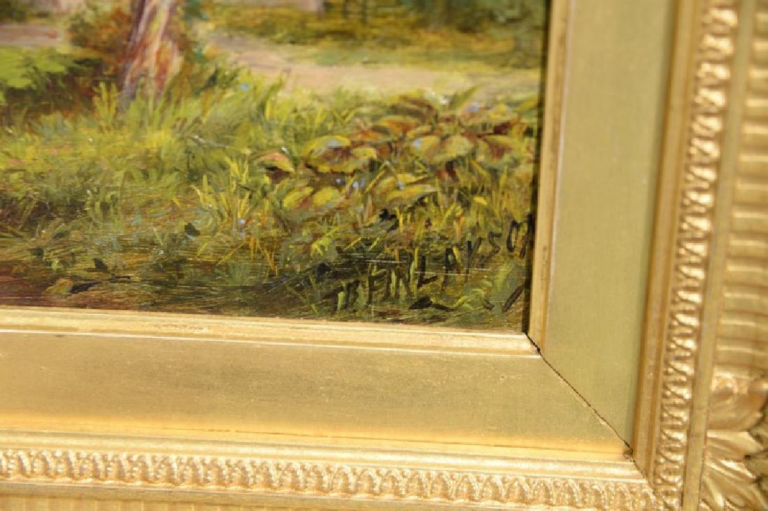 Thomas B. Finlayson (1835-1893) oil on panel, Burgess - 4
